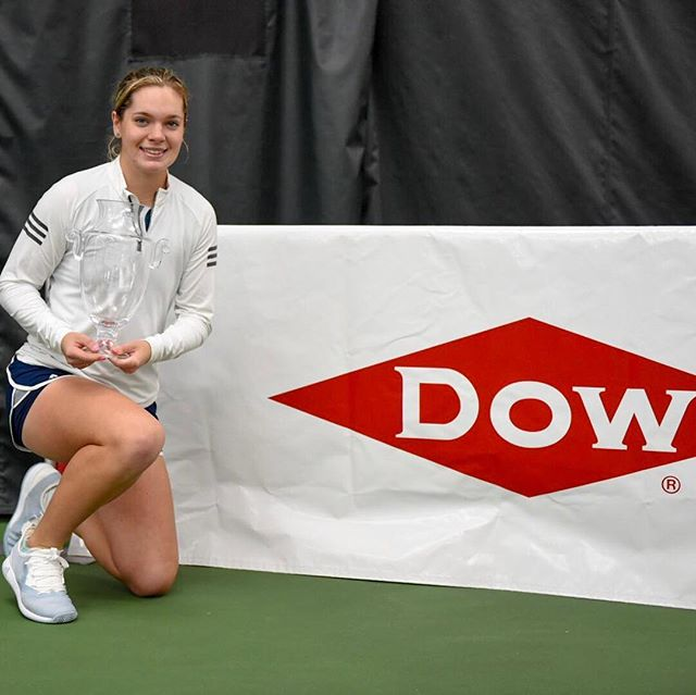 We would like to extend a BIG thank you to our title sponsor, Dow! We wouldn't be able to have such a successful tournament without your constant support! 🙏☺️ _ #DTC19 #Tennis #USTAProCircuit #ThankYou