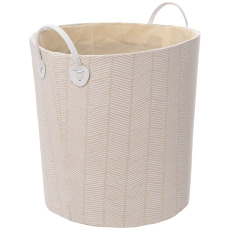Cream and White Storage Bin