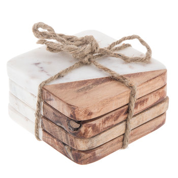 Marble & Wood Coasters | $7.99