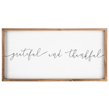 Grateful & Thankful Wood Sign | $14.99