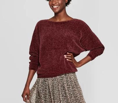Similar chenille sweater $20