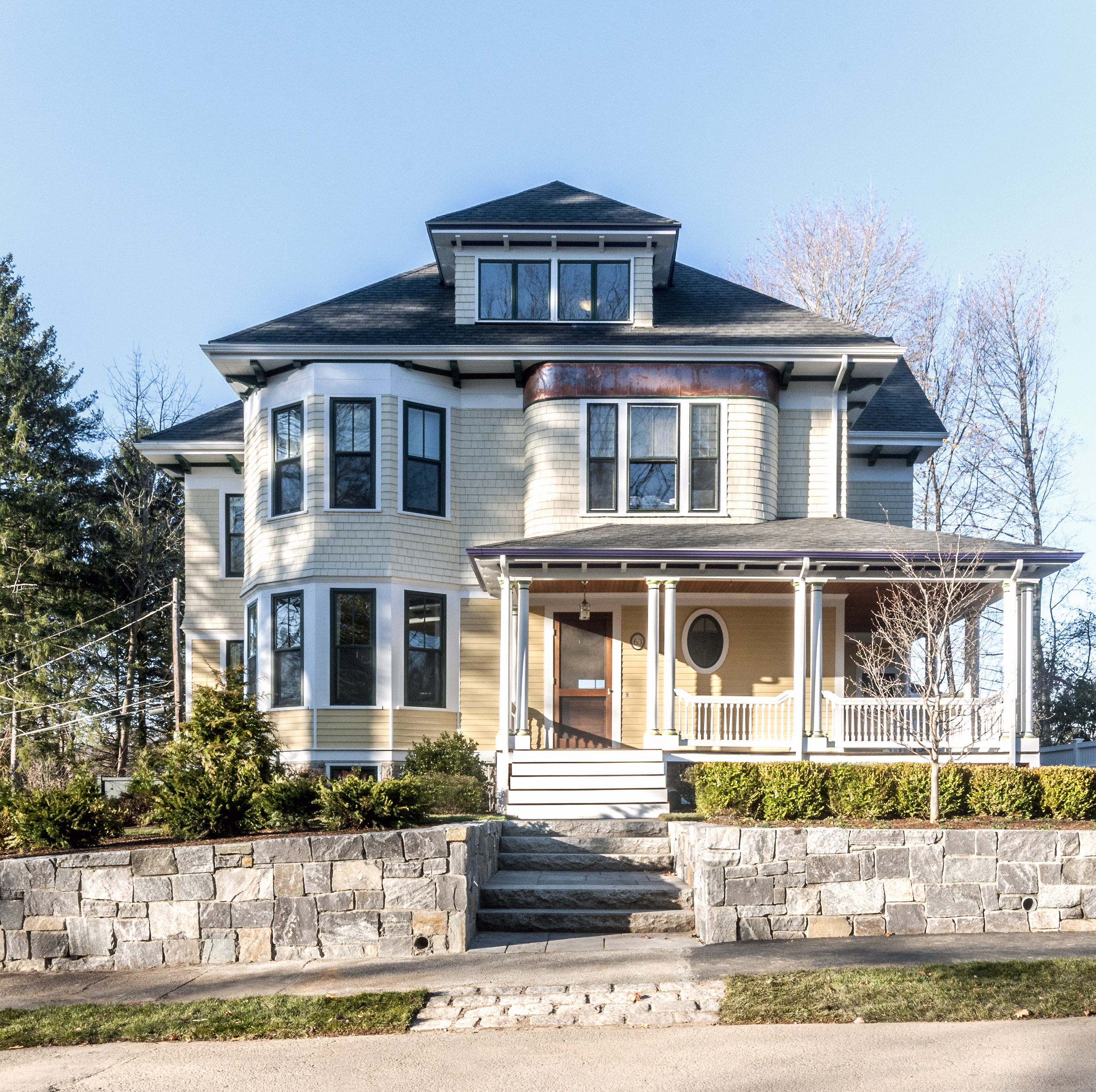 Newton Victorian exterior and landscaping