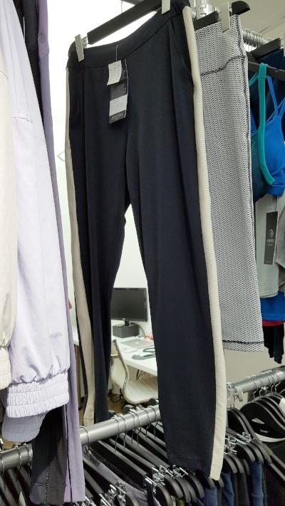 Iridescent striped tuxedo pant - by Lynda Lippin 2017