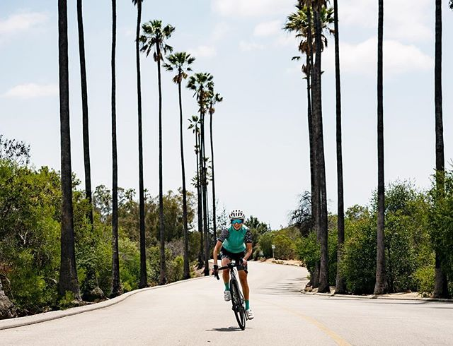 Riding around LA happy to moving forward one pedal-push at a time!! @crystal_haggard #theblueandred