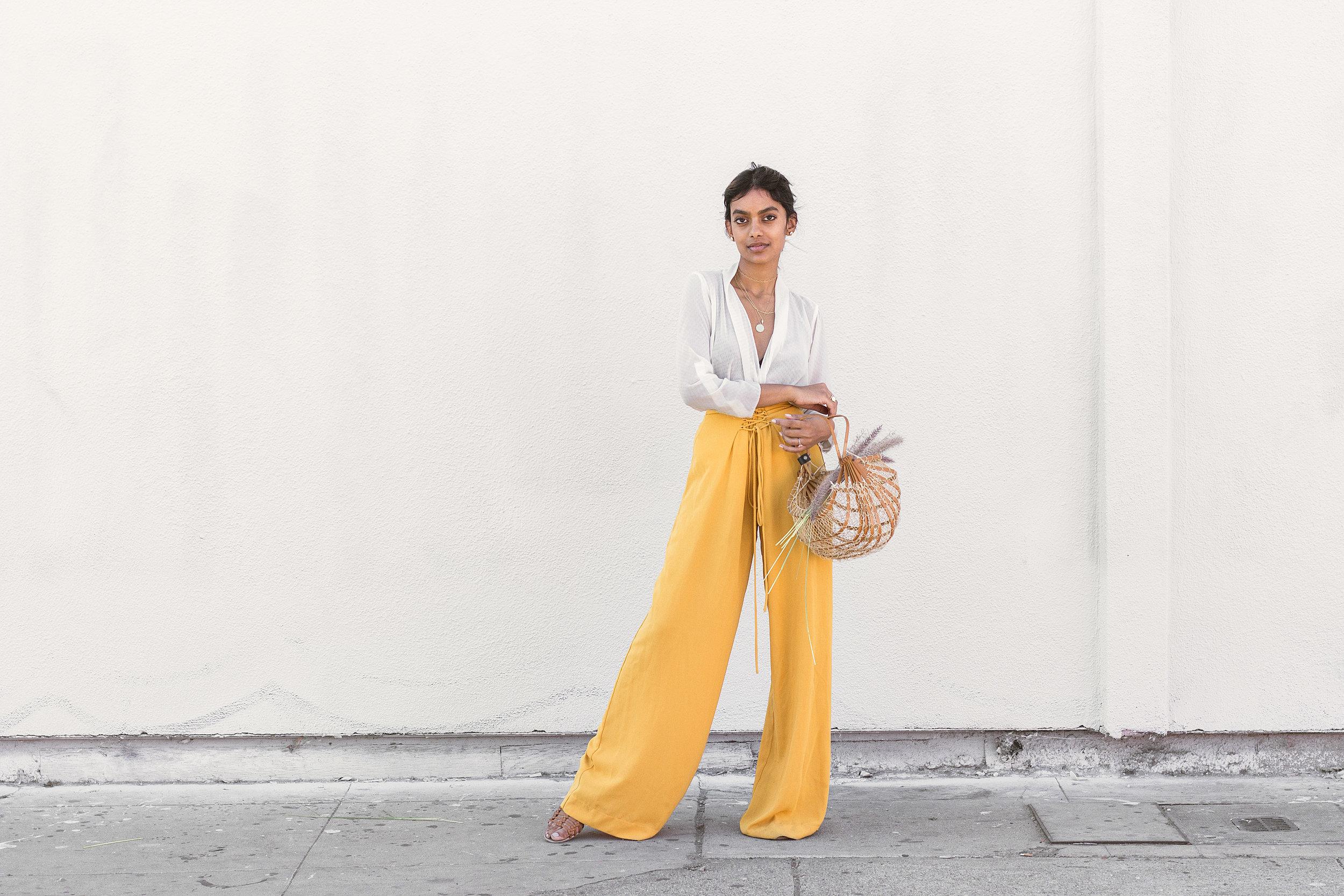 Chai Time by Stella Simona_ Kristen_White Top_Yellow Pants_1.jpg