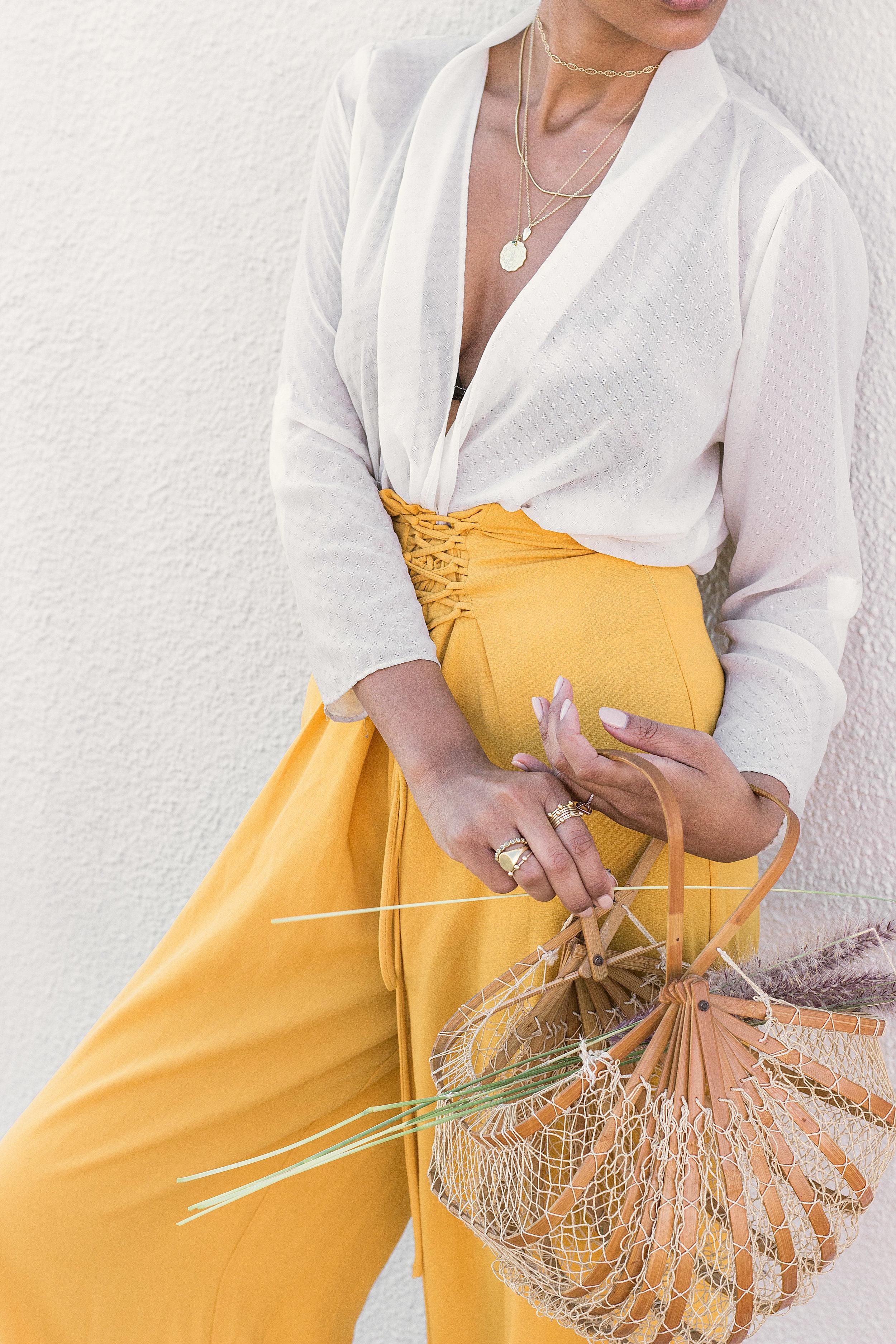 Chai Time by Stella Simona_ Kristen_White Top_Yellow Pants_4.jpg
