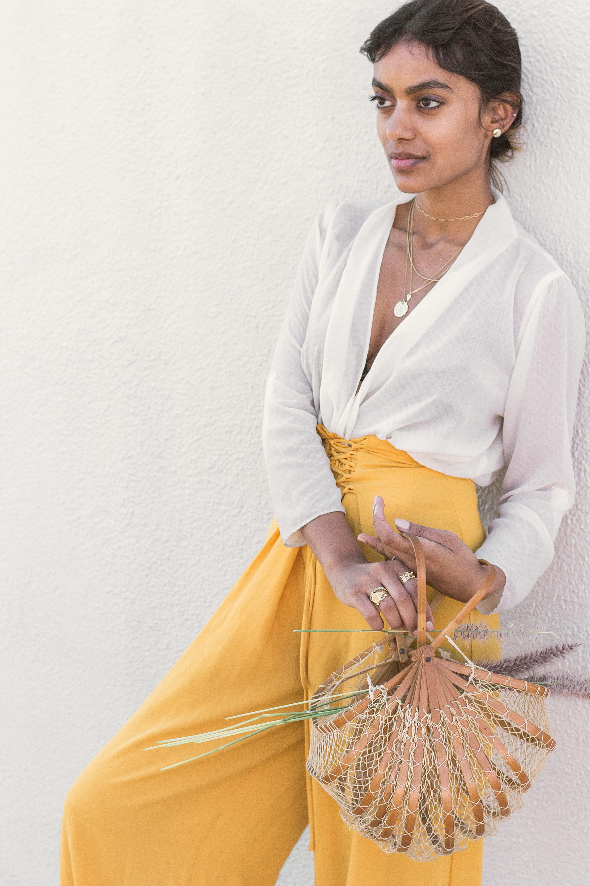Chai Time by Stella Simona_ Kristen_White Top_Yellow Pants_5.jpg