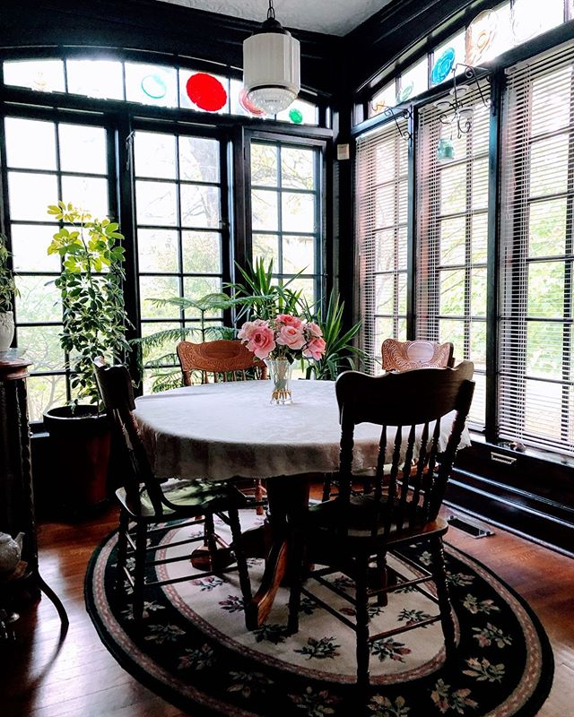 Our breakfast nook will soon be crowded with more plants as the temps drop. We'll save plenty of room for our guests though.