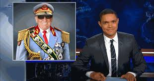The Daily Show 's Trevor Noah compares Trump's affect to African Dictators.