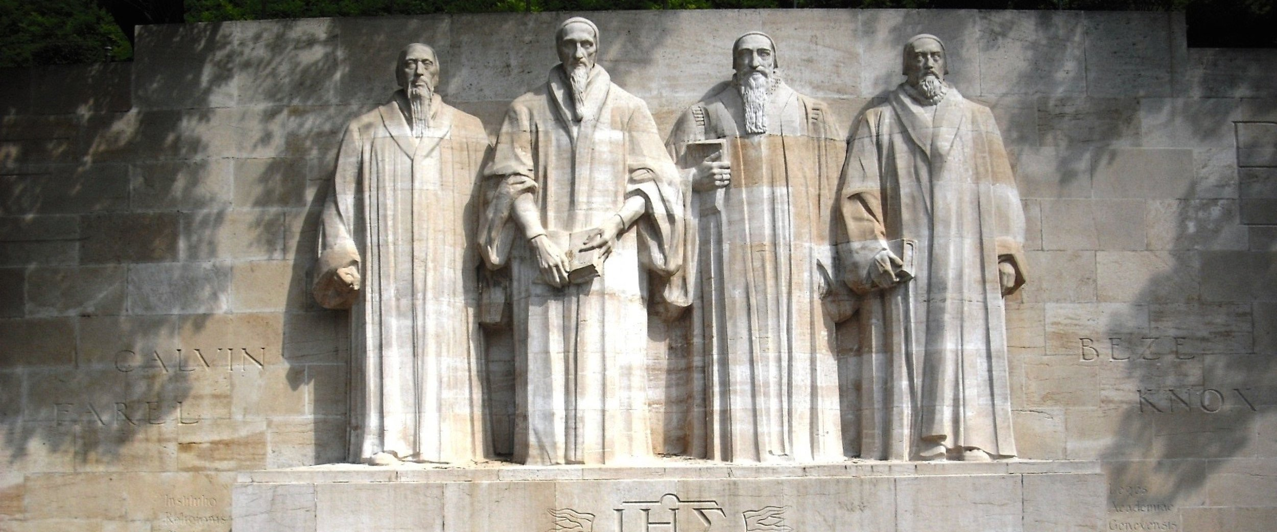 "International Monument to the Reformation (""Reformation Wall""), Geneva, Switzerland."