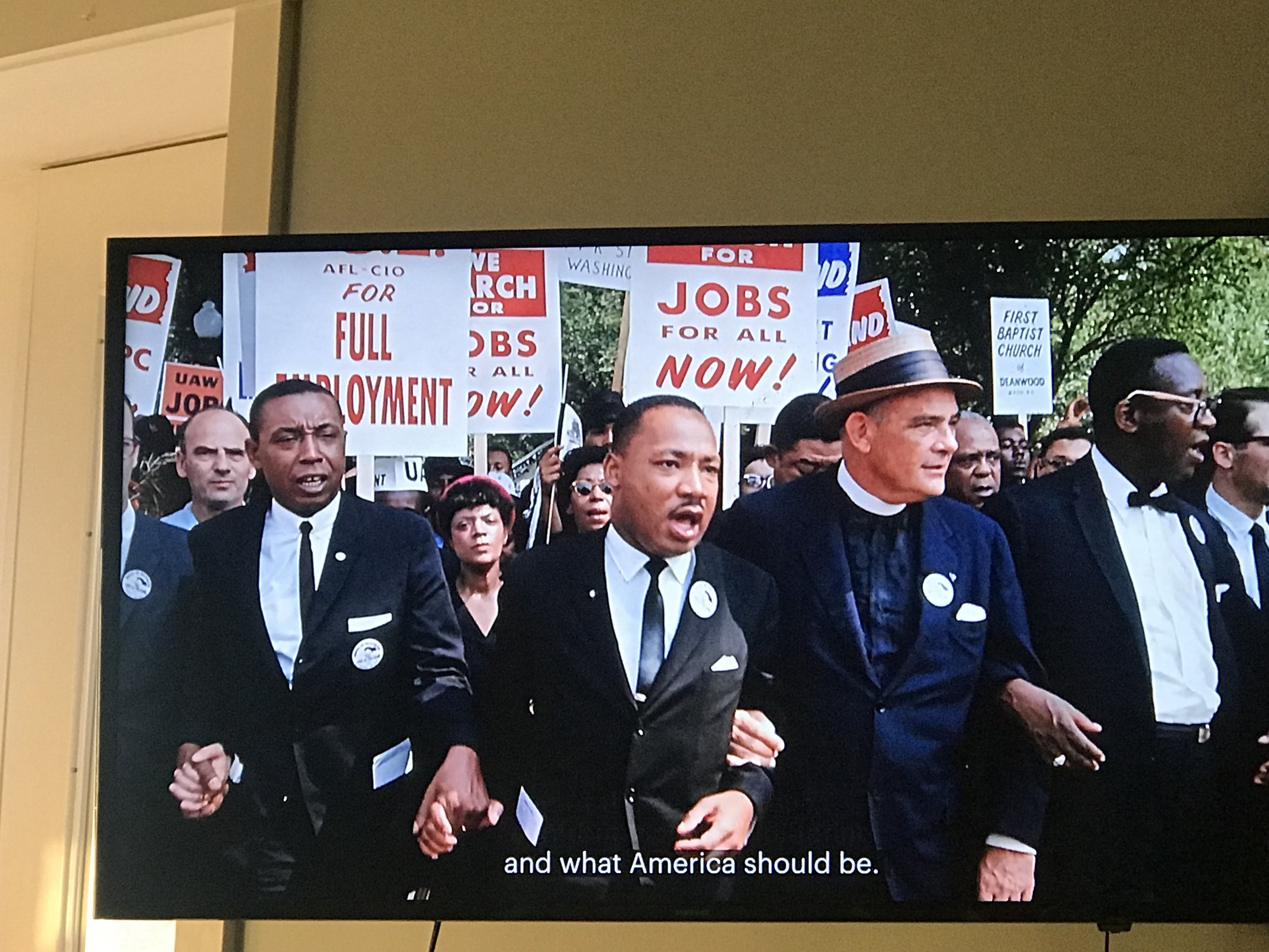 "A screen shot of ""Martin Luther King Jr, Marked Man"" , National Geographic Channel"