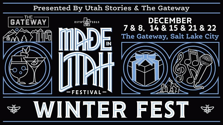 Made in Utah Winter Fest 2019 - Location: The Gateway, Downtown Salt Lake City, UT.Utah Stories and The Gateway present the second annual Made in Utah Winter Fest in collaboration with The Gateway's holiday light experience.Come down to experience The Gateway's Winter Dreamland holiday light display while you shop with the Made in Utah Winter Fest!Visit our Facebook event page.