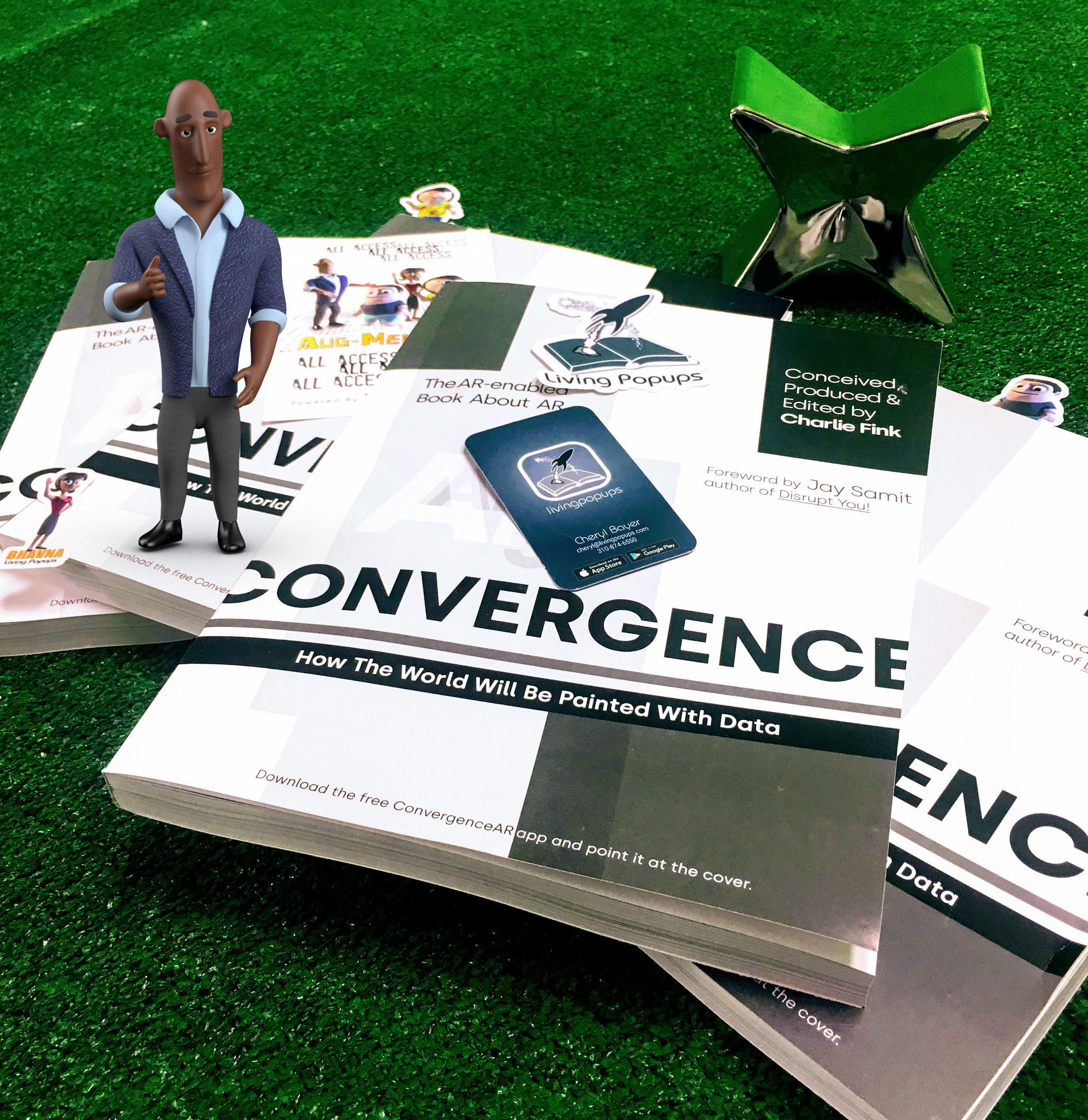 CONVERGENCE - Purchasable Now on AmazonCharlie Fink's Convergence:Featuring the AR episodic series: The Augmentorsby Living Popups