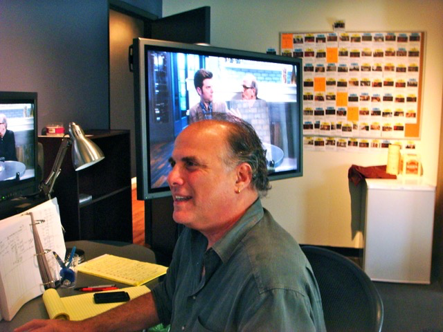 Six Week Artist in Residence Editor Jeff Wolf editing  A.C.O.D.