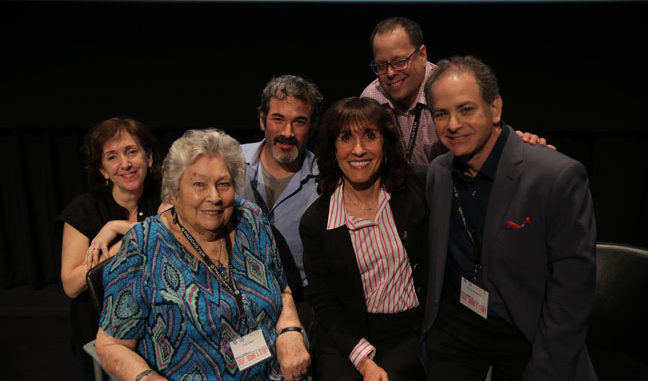 Manhattan Edit Workshop Director of Education Janet Dalton, left, Editor Anne V. Coates, Manhattan Edit Workshop Owner Josh Apter, Author and Moderator Bobbie O'Steen, Manhattan Edit Workshop President Jason Banke and Editor Michael Berenbaum.