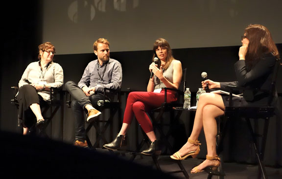 Mona Davis, left, Gabriel Rhodes, Erin Casper and moderator Livia Bloom. Photo by Dan Ochiva