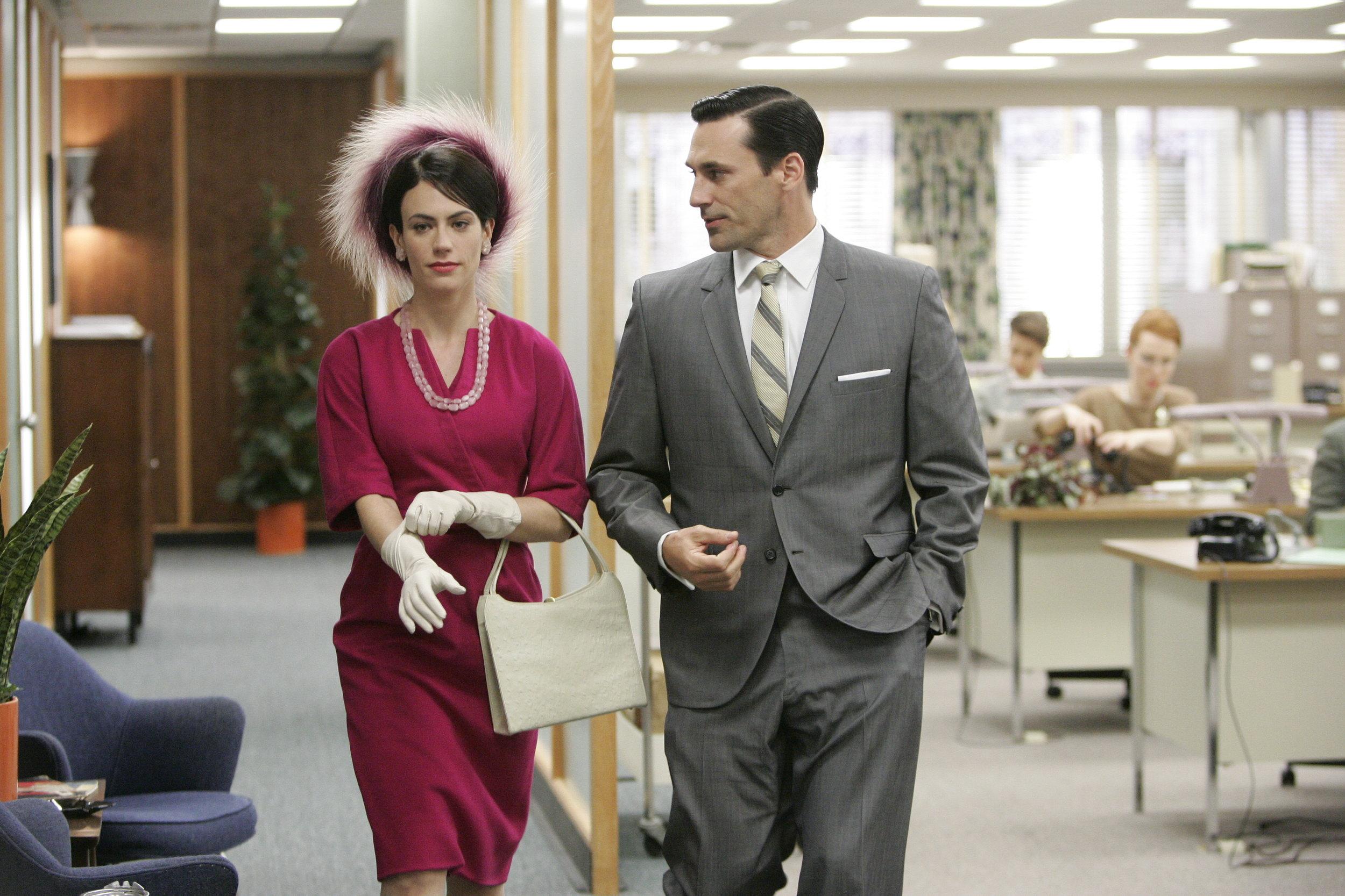 Rachel Menken (Maggie Siff) and Don Draper (Jon Hamm)  Mad Men  Season 1