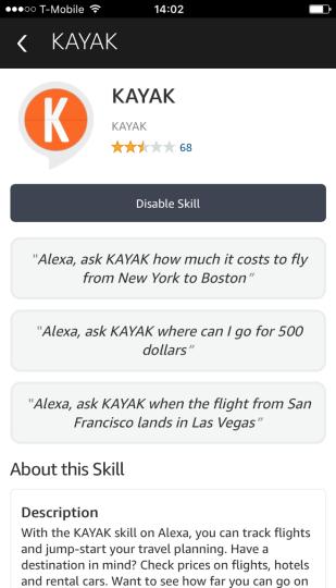 Kayak-amazon-alexa-chatbot