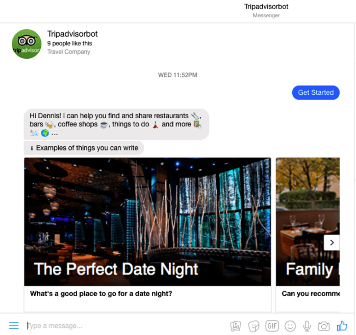 Tripadvisor-facebook-messenger-chatbot
