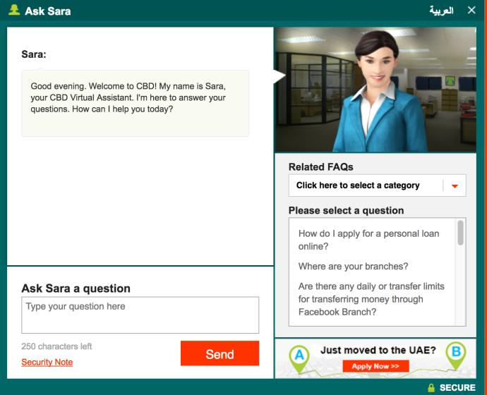 commercial-bank-of-dubai-webbased-chatbot