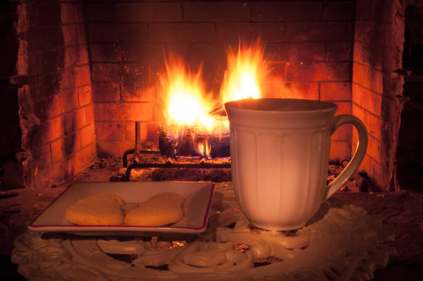 cookies and drink near fireplace.jpg