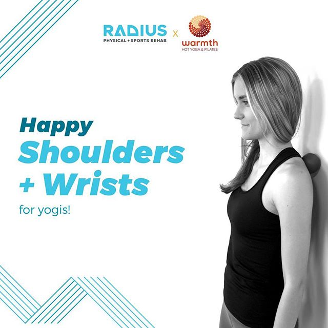 @warmthstudios + @radiusclinic have teamed up to offer Happy Shoulders + Wrists, a workshop designed to help you move efficiently + pain-free on and off your yoga mat.  Whether you deal with chronic pain or simply want to learn the key alignment and biomechanics for healthy shoulders + wrists, this workshop is for you.  We'll begin with Dr. Eric Dickerson DC, FRCms from Radius sharing the biomechanics of shoulders + wrists, their functions and how we can support them with a strong core and healthy scapula movement. With this knowledge, we will lead the group through targeted rehab type exercises to strengthen and increase range of motion - preventing future shoulder + wrist injury/pain.  Following this exploration, we'll apply the biomechanics to further embody them within our physical practice. We'll cover 10 common muscular compensations and weaknesses in (shoulder + wrist specific) yoga poses, offering key therapeutics, modifications + props to keep shoulders + wrists healthy on the mat. The goal is to give you tools that you can apply to all yoga classes going forward.  Taught in a workshop style, participants can expect plenty of one-on-one attention, as well as the opportunity to ask questions. If you are dealing with injuries or discomfort in the shoulders + wrists, then this is a great opportunity to work with experts and smart biomechanics to explore your unique body.  This is an active (contains light exercise) workshop, please wear yoga attire. While the movements will be highly targeted, this workshop is appropriate for beginning and advanced yogis. #yoga #shoulder #wrist #painfree #movementismedicine #sportsrehab