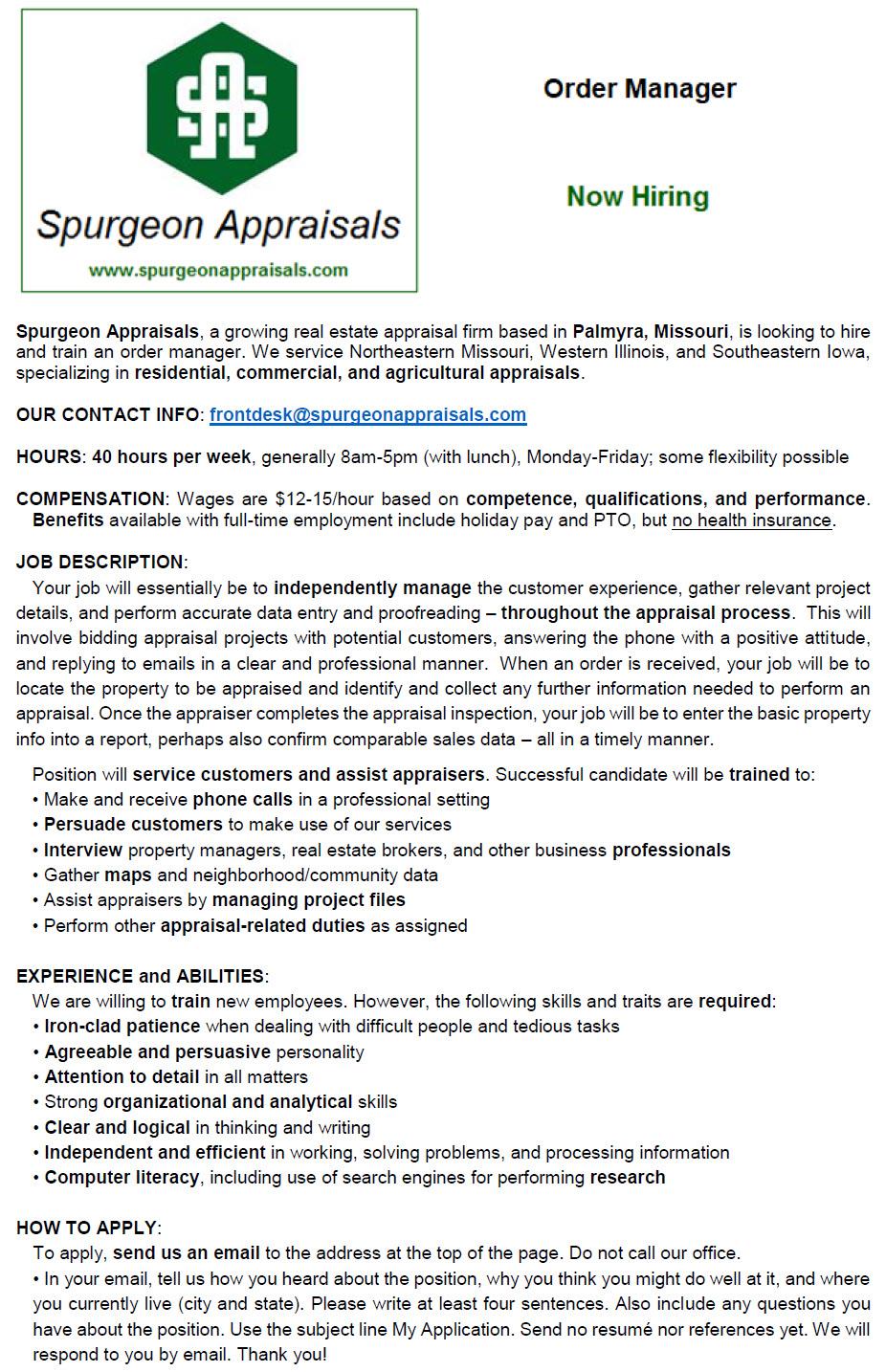 Spurgeon Appraisals Order Manager Position online flyer - V3.jpg