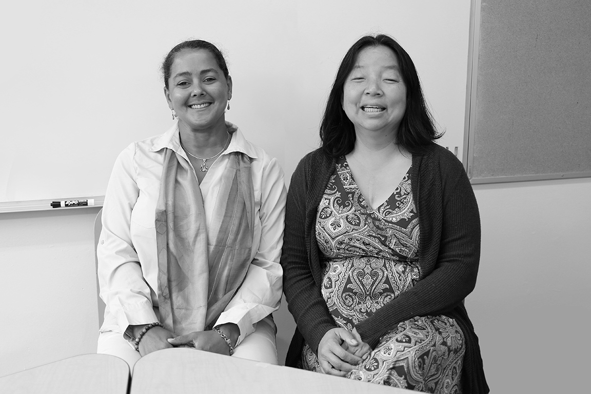 Carol Swainson, Head of School and Jina Kim Associate Head of School, Director of Operations