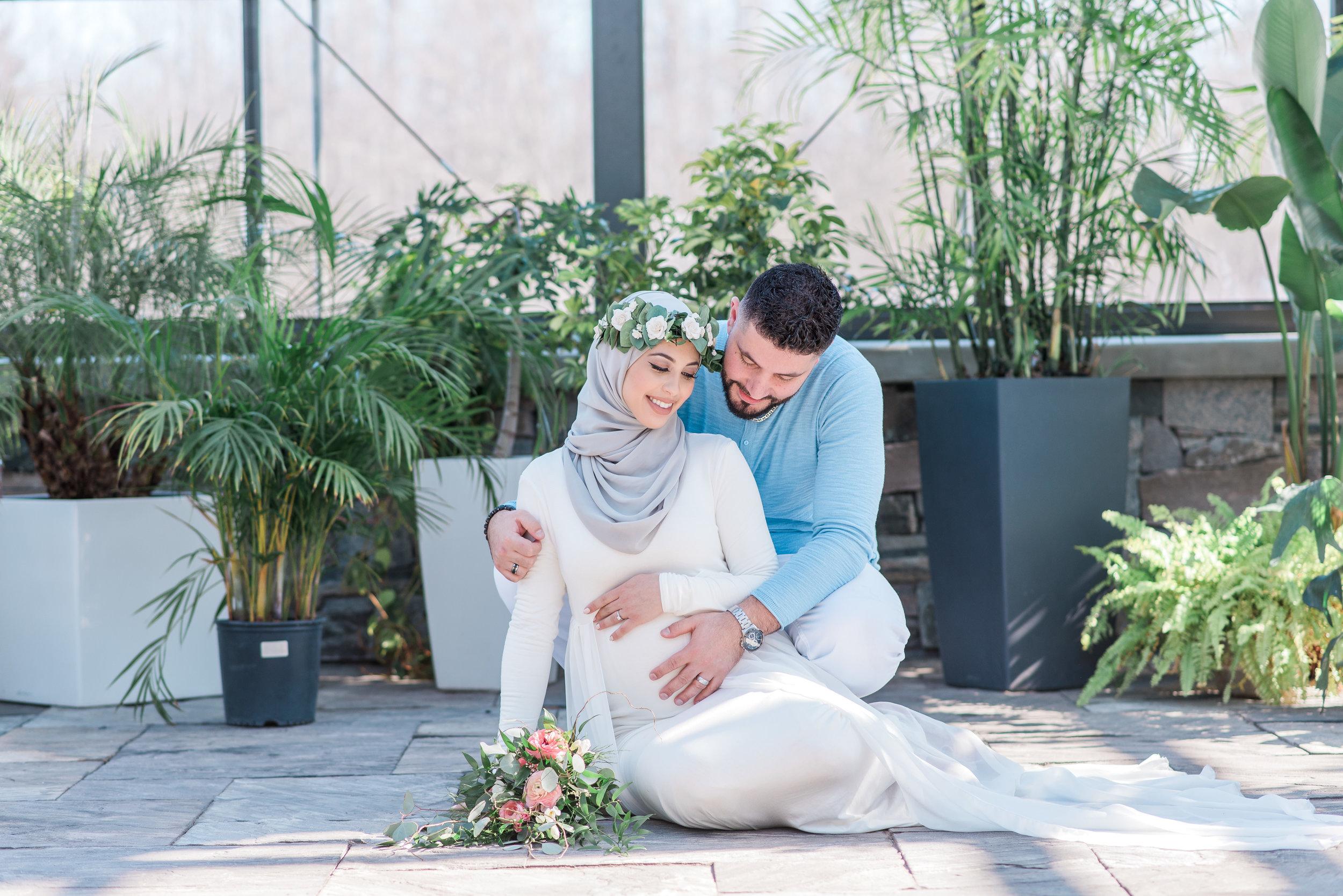 Hanan Tehaili Maternity Shoot White Dress Aquatopia.jpg