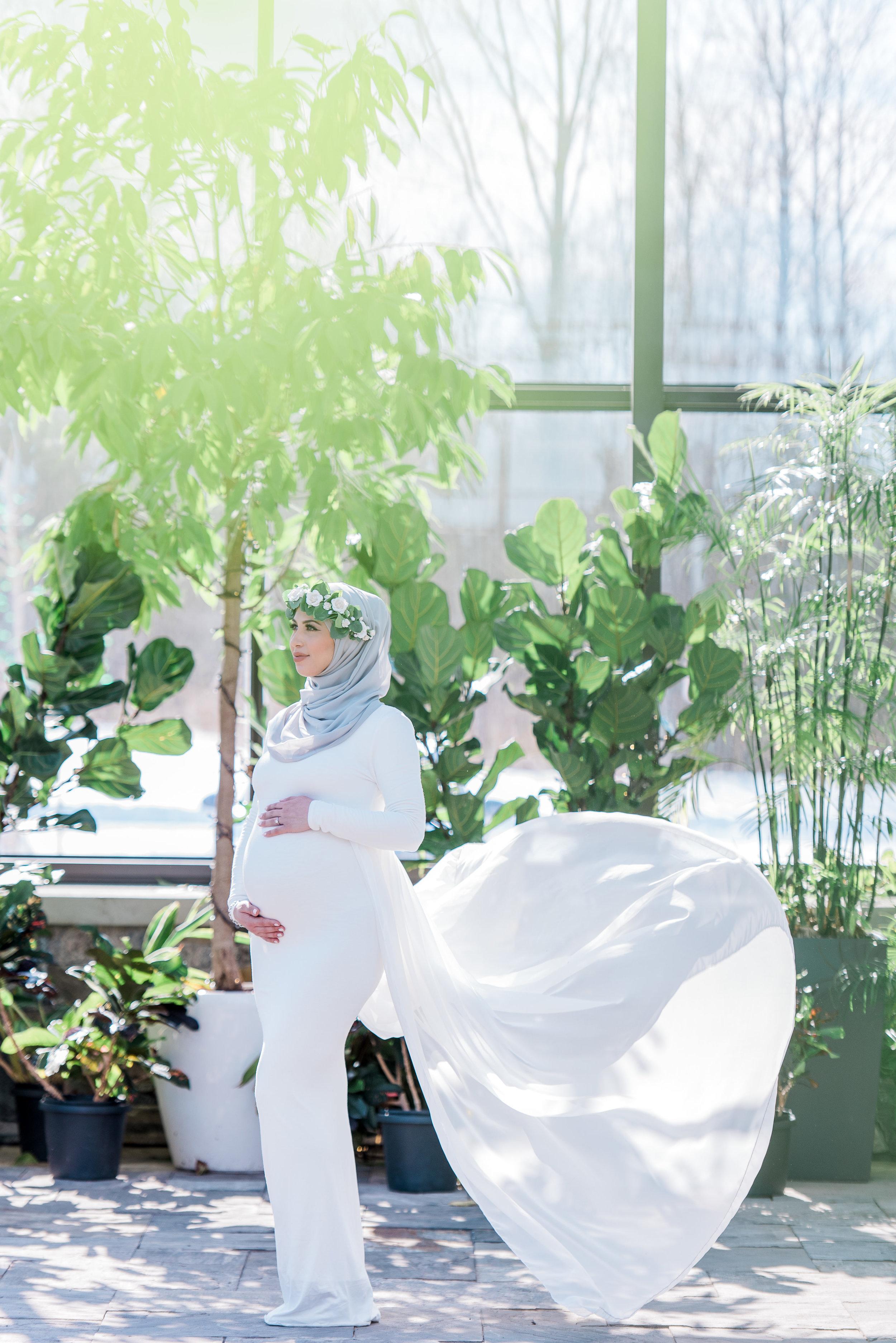 Hanan Tehaili White Maternity Gown_Maternity Photoshoot.jpg