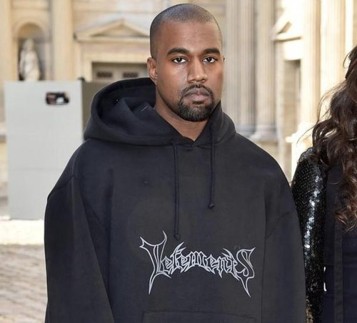 Kanye west during the vetements show in Paris. image courtesy of http://www.acrossthefader.net