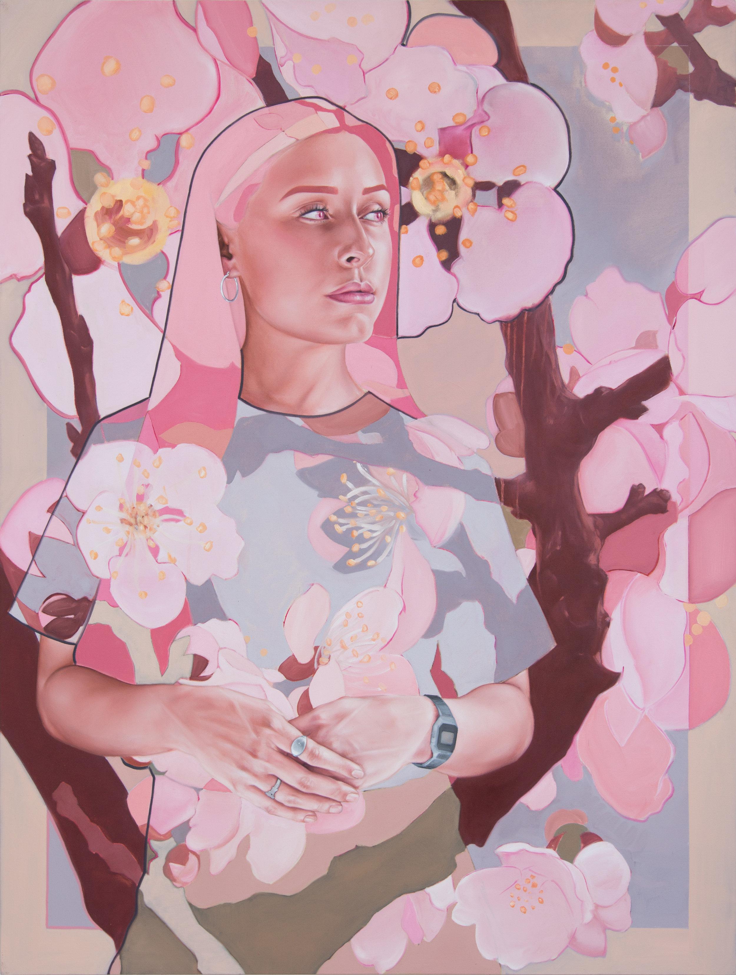 Shane Berkery Pink Pastel Portrait