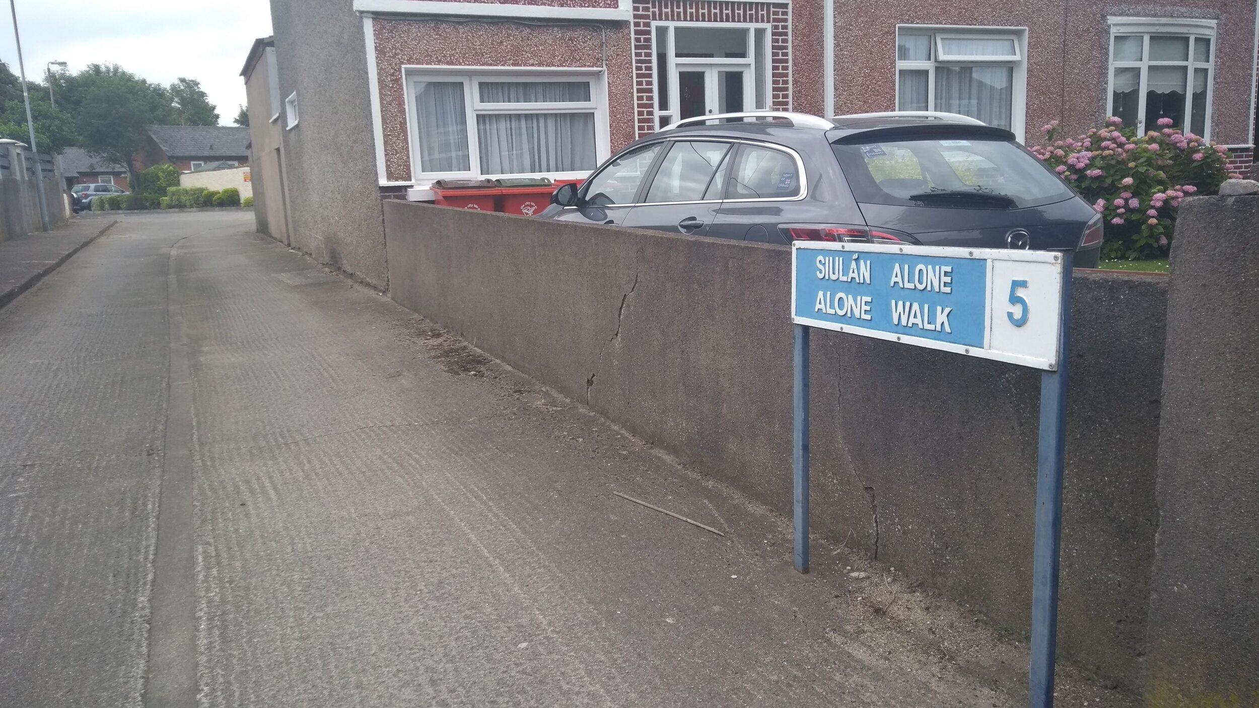 Alone Walk: A street in Artane, Dublin 5