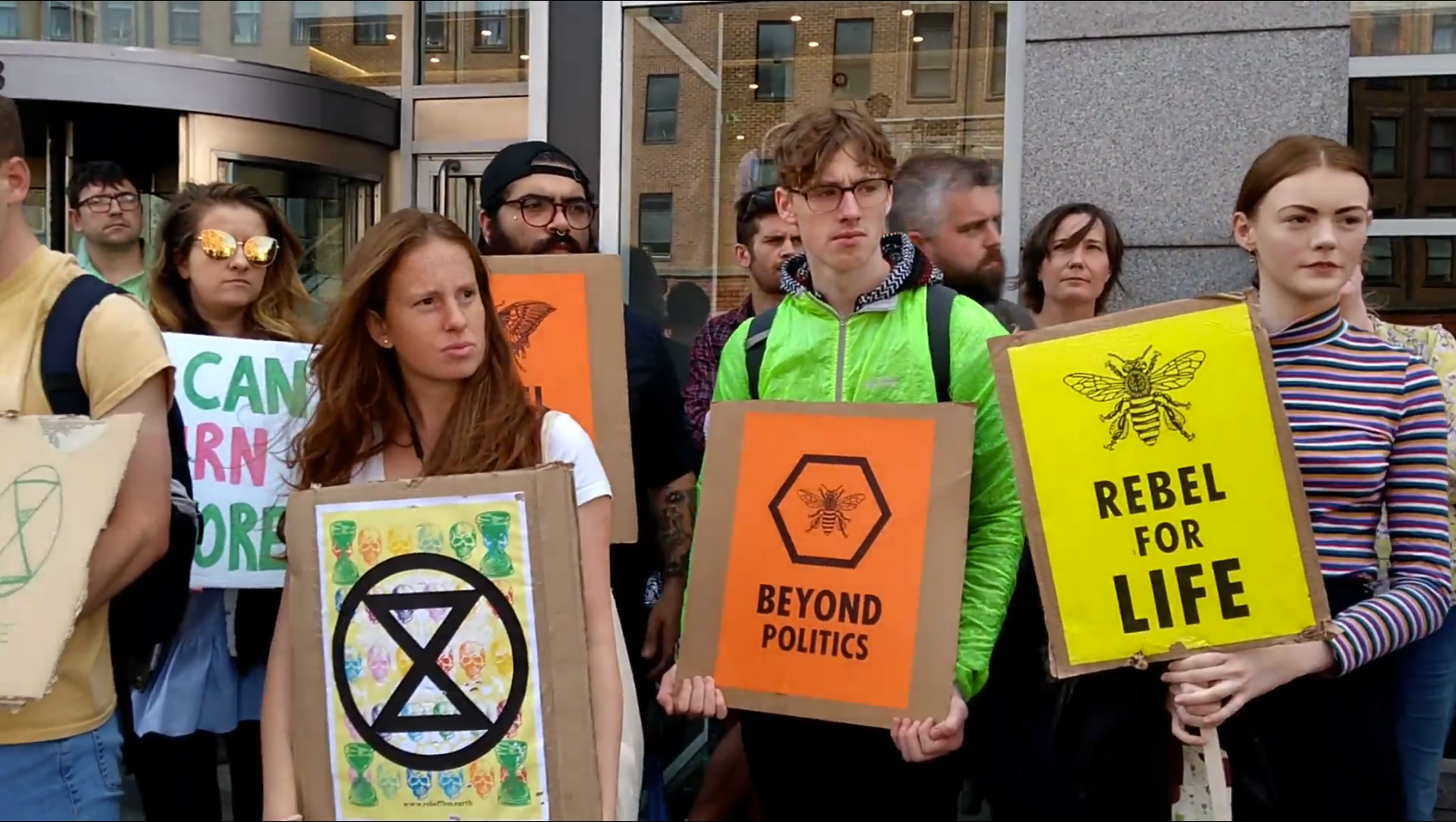 XR Protest: Extinction Rebellion members protesting against Amazon forest burnings in  front of the Brazilian Embassy, Dublin 2, on the 23 rd of August