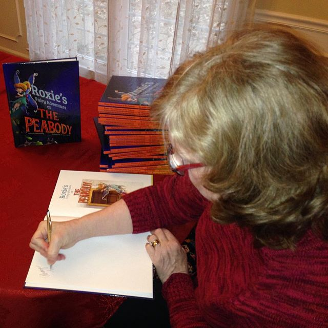 """Looking for the perfect gift this #Christmas holiday? How about a signed copy of """"Roxie's Fairy Adventure at The Peabody""""? Find a copy for your special fairy at #lanskyluckyduck Gift Shop inside @peabodymemphis (118 South 2nd St.), @southmainbookjuggler (548 South Main St.), or @novelmemphis (387 Perkins Extended in Laurelwood). Newly-signed books await!  #roxiesfairyadventure #fairies"""