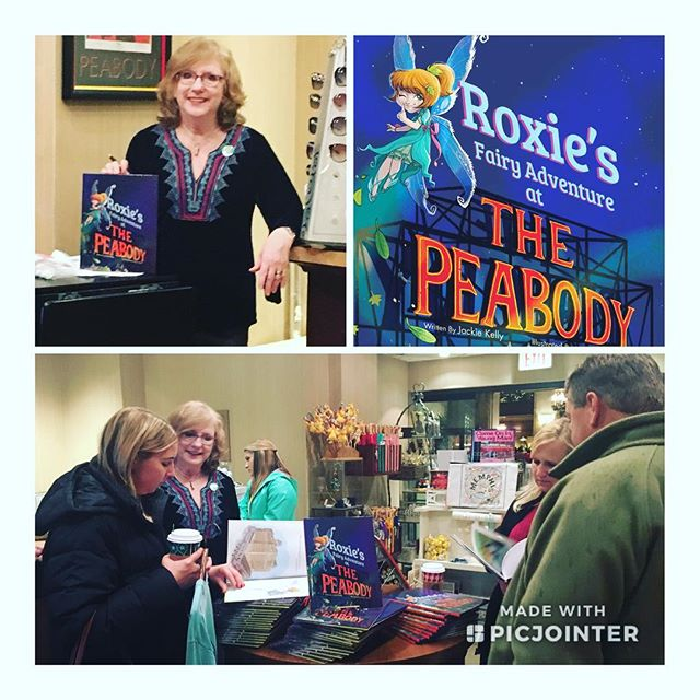 """What a treat it was being surrounded  by all the friendly people and warm Christmas vibes at Saturday's """"Roxie"""" book signing at Lansky's Lucky Duck @peabodymemphis!  I loved introducing #Roxie to people and watching them take her home to countries all over the world.  Special thanks to Julie Lansky and her #LuckyDuck crew: Cheryl, Vivian, Allie and Bianca -- You're the best!  The holidays are always special at The #Peabody. See why for yourself. And tell them Roxie sent you!"""