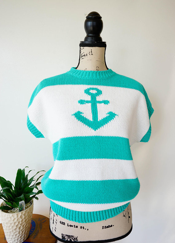 Vintage Anchor Knitted Shirt