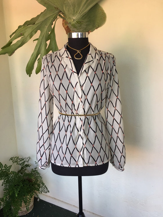 CLEARANCE! 80s vintage blouse
