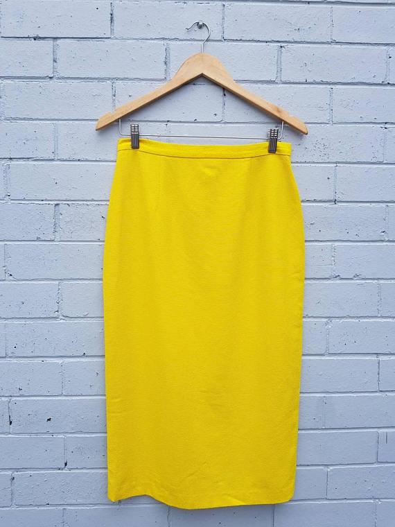 SALE Vintage 1980s High Waisted Skirt
