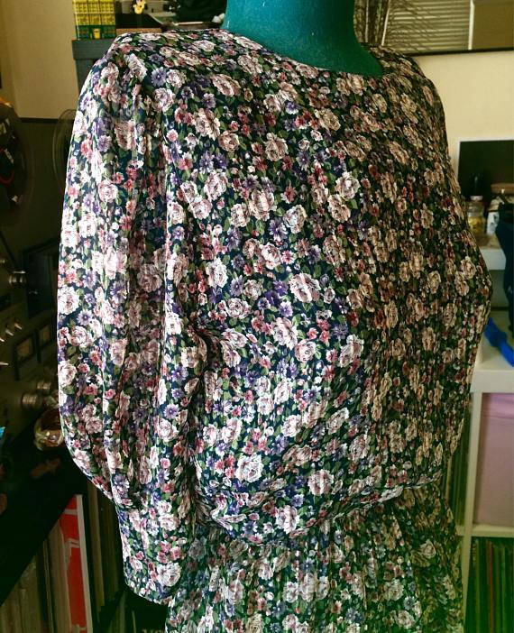 Floral Sheer 80's Spring Dress