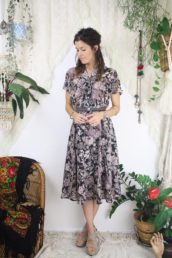 Floral Vintage Picnic Dress