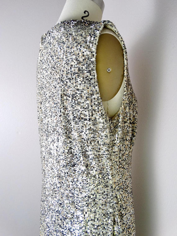 PEGGY JENNINGS Couture Sequin Dress