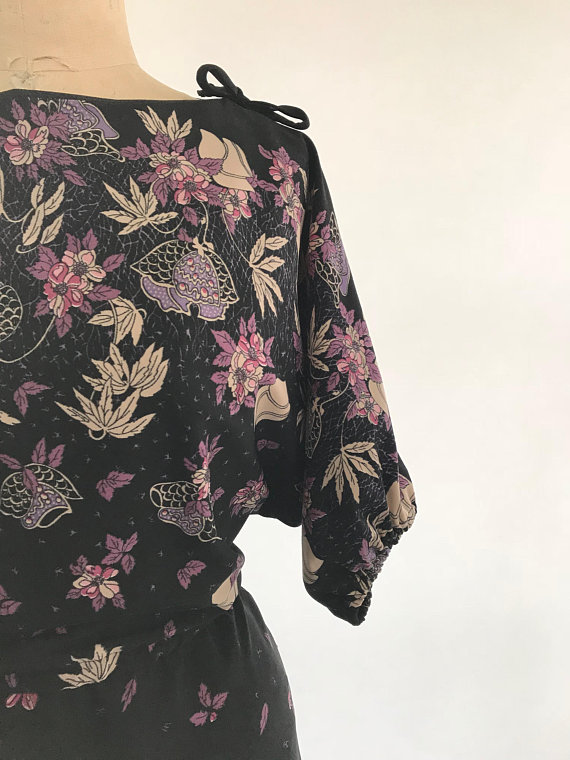 1970's Floral Dress - $51.02 + Shipping