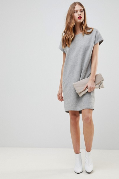 Y.A.S Wool Dress With Oversized Pockets