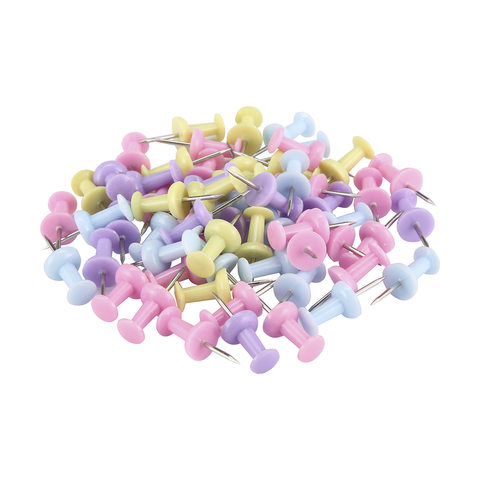 60 Pack Coloured Push Pins