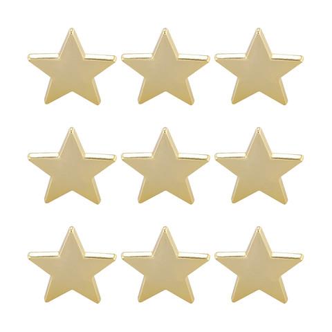 Metallic Star Push Pins