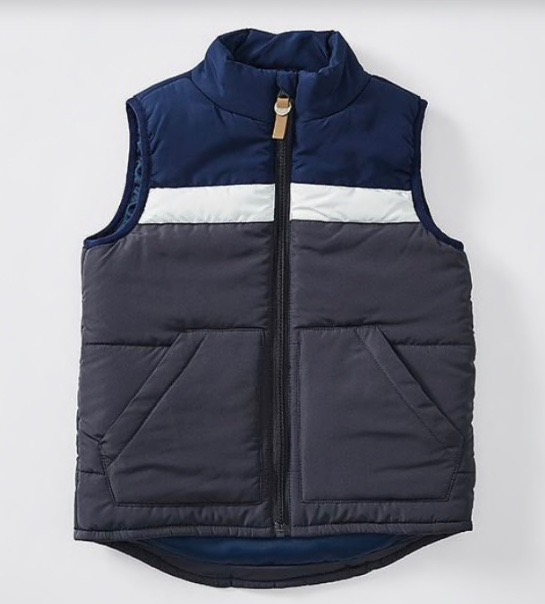 Panelled Puffer Vest $18