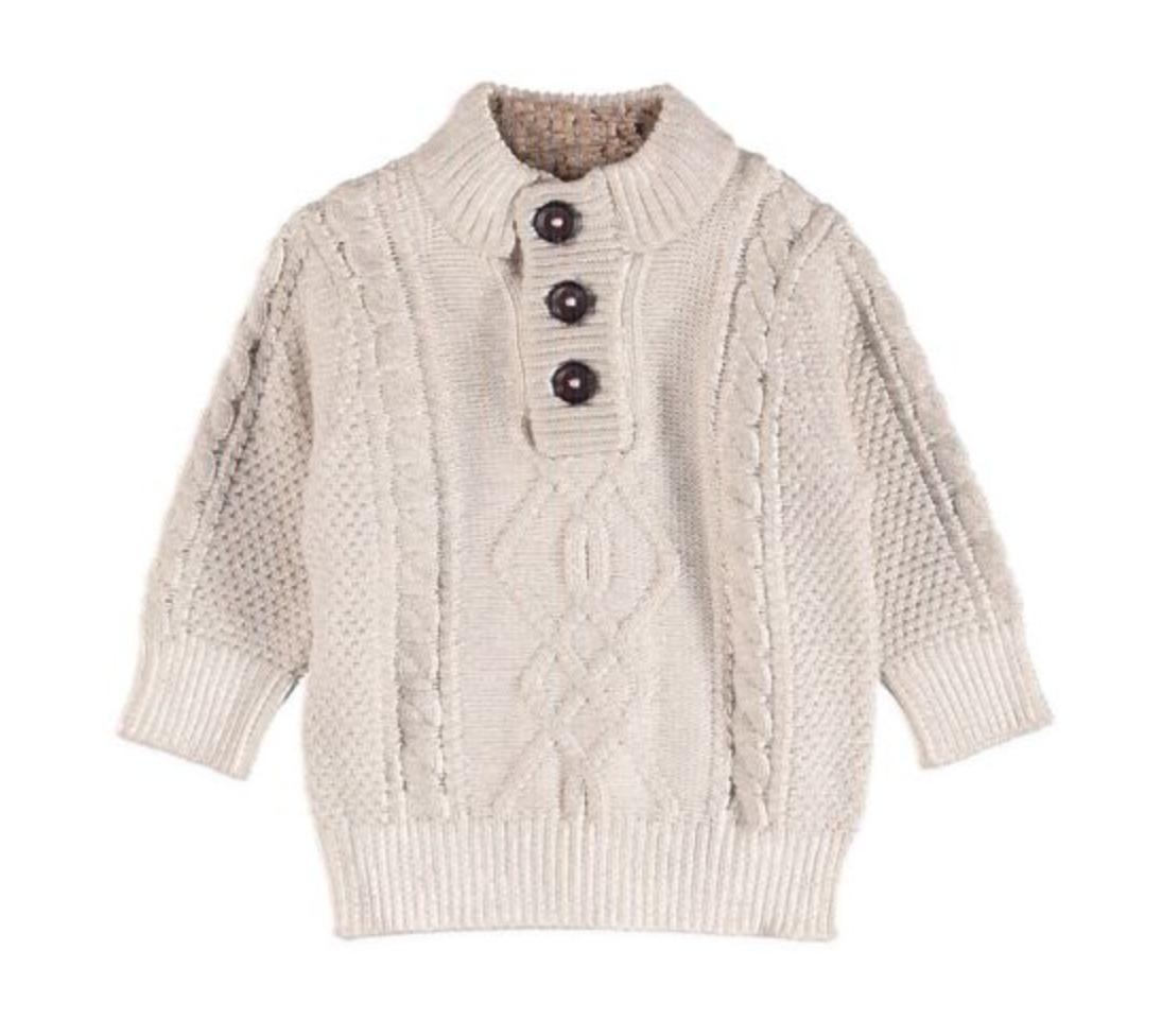 Boys Cable Knit Sweater $15.00