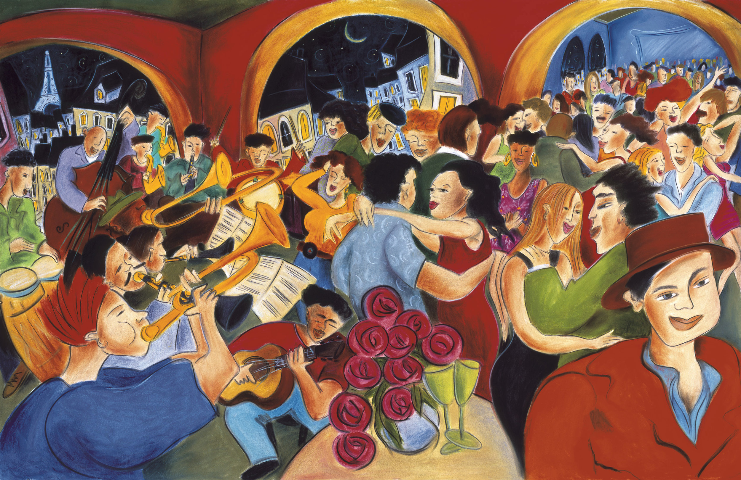 """¡Baila! limited edition prints, 22"""" x 30"""" edition of 50 signed and numbered, SOLD OUT"""