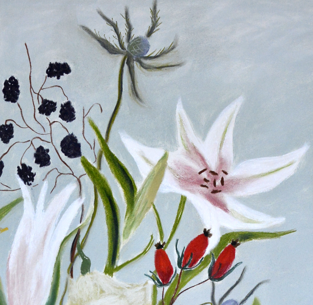 Lillies and Blackberries-detail 1.jpg